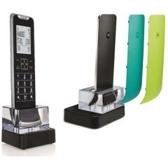 Motorola IT.6.1XC (Ελληνικό μενού) Λεπτό ασύρματο τηλέφωνο με τρία ανταλλακτικά χρωματιστά καπάκια