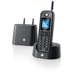Motorola O201 Black GR (Ελληνικό Μενού) Αδιάβροχο ασύρματο τηλέφωνο με εμβέλεια έως και 1 km