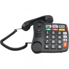 Olympia 4500 Ενσύρματο τηλέφωνο για ηλικιωμένους με μεγάλα πλήκτρα, συμβατό με ακουστικά βαρηκοΐας, ανοιχτή ακρόαση και 6 μνήμες