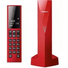 Philips M3501R/GRS Κόκκινο (Ελληνικό Μενού) Ασύρματο τηλέφωνο με ανοιχτή ακρόαση, φωτ. οθόνη, φραγή κλήσεων, 50 μνήμες και micro-USB