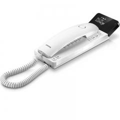 Philips M110W/GRS Λευκό Ενσύρματο τηλέφωνο γόνδολα με οθόνη και ανοιχτή ακρόαση συμβατό με ακουστικά βαρηκοΐας