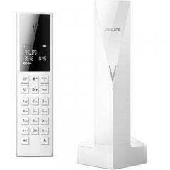 Philips M3501W/GRS Λευκό (Ελληνικό Μενού) Ασύρματο τηλέφωνο με ανοιχτή ακρόαση, φωτ. οθόνη, φραγή κλήσεων, 50 μνήμες και micro-USB
