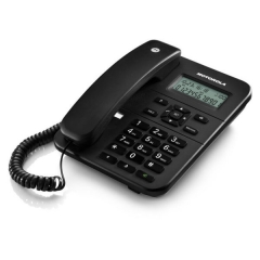 Motorola CT202 Μαύρο Ενσύρματο τηλέφωνο με οθόνη