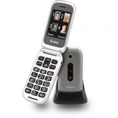 Olympia MIRA GR Ασημί (Ελληνικό Μενού) Κινητό τηλέφωνο για ηλικιωμένους με κουμπί SOS, Bluetooth και κάμερα με φλας