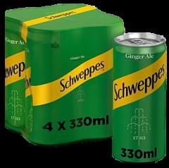 SCHWEPPES GINGER ALE 330ML